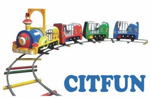 Factory price classic train Funfair Pint-sized Kids Amusement Park Train, Track Electric Train HC-008C(China)