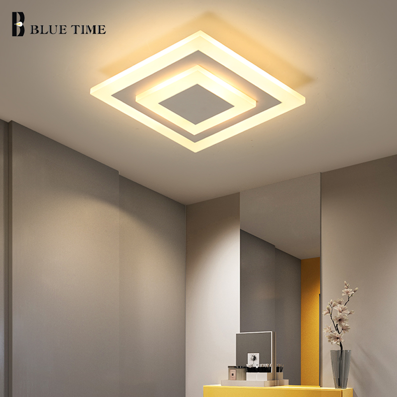New Modern Chandelier Lighting Luminaires 20x20cm Square Chandelier For Home Living room Bedroom Corridor Lamp Indoor Led Lustre