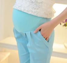 Summer maternity clothes maternity abdominal pants cotton lace pregnant women pants SH 3206B