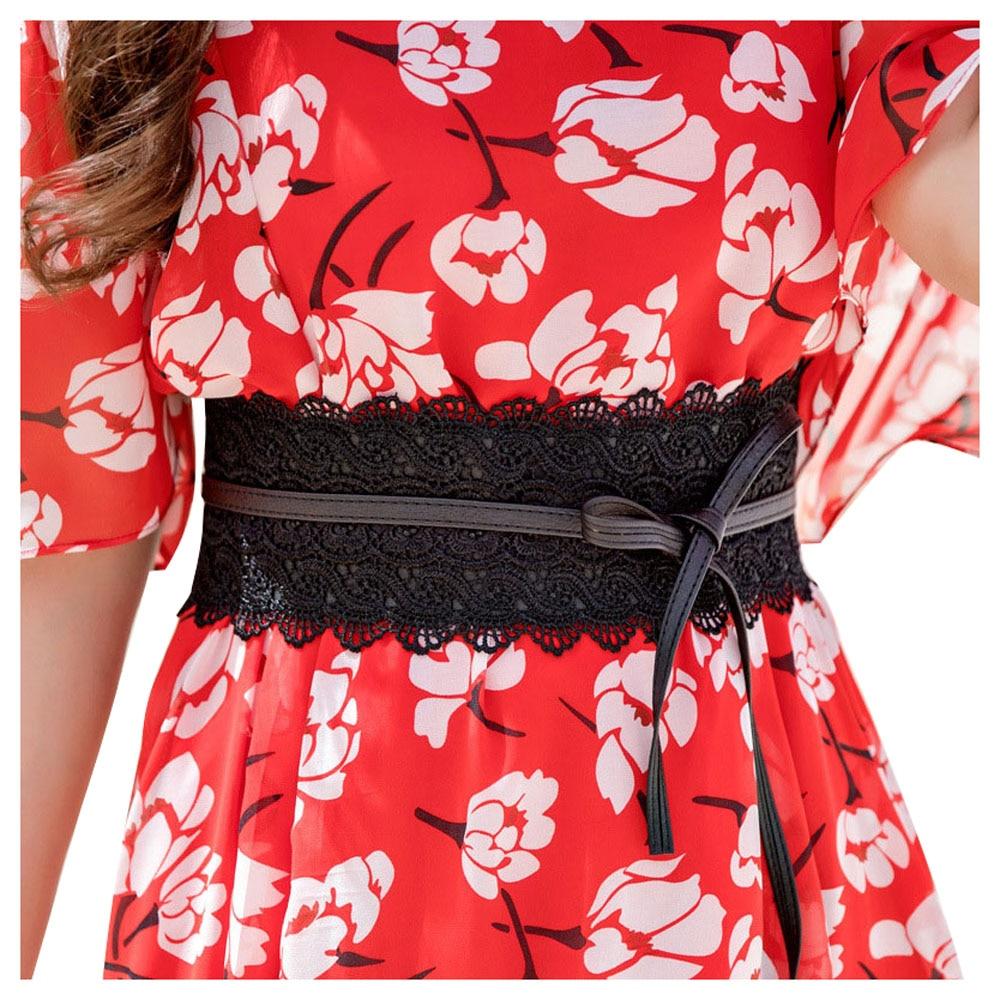 Elastic Lace Black Belts For Women Luxury Brand Designer Belts For Costumes Jeans Belt Female Wedding Dress Waistband HOT