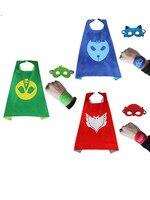 1 packs PJ masken Inspiriert Kostüm Cape; Maske + 2 stücke Party Dekoration Geburtstagsfeier Für Kinder Armband Armband