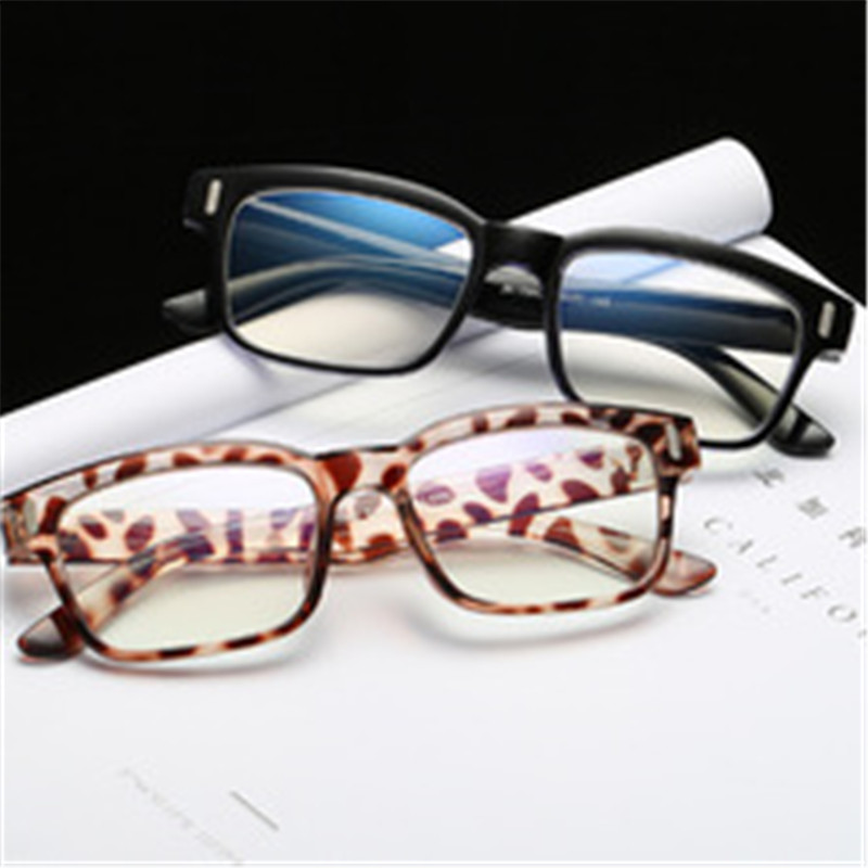 Fashion Student Optics Square eyeglasses Frames for Women and Men PC computer eyewear blue ray prevention lenses Retro glasses in Men 39 s Eyewear Frames from Apparel Accessories