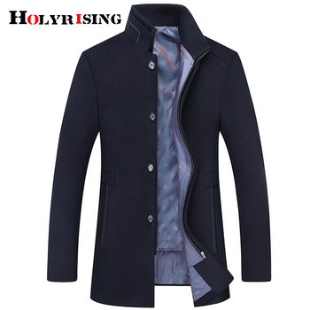 Новое зимнее шерстяное пальто, приталенные куртки, мужская повседневная теплая верхняя одежда, куртка и пальто, Мужское полупальто, размер