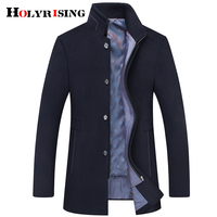 New Winter Wool Coat Slim Fit Jackets Mens Casual Warm Outerwear Jacket and coat Men Pea Coat Size M 6XL size 18773 5
