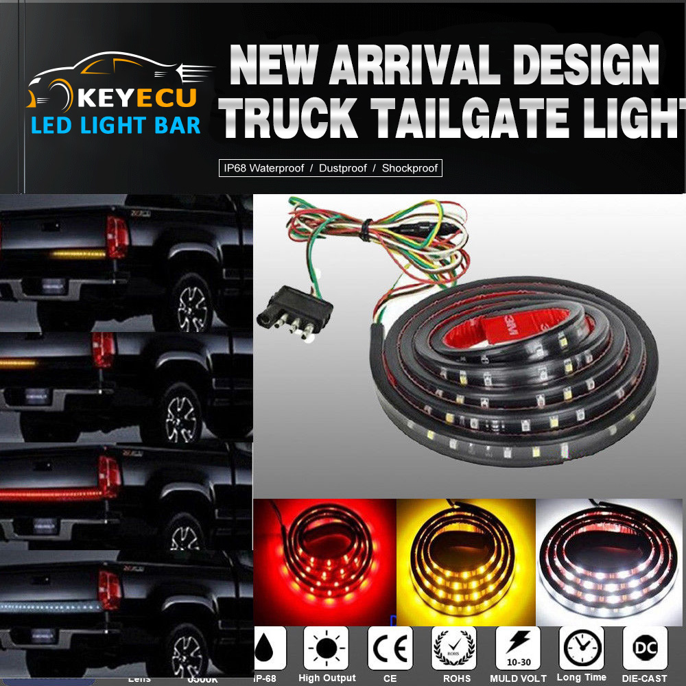"1pc 60/"" inch 216-LED Tailgate Strip Light Bar Red White Running Brake Tail Lamp"