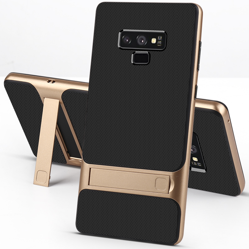 ProElite Holder Stand Phone Case for Samsung Galaxy Note 8 Note 9 S9 S8 Plus Hard PC + Soft TPU Shockproof Ultra Slim Back Cover(China)