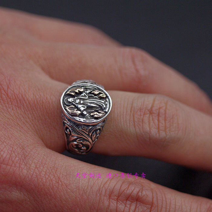 s925silver Thailand jewelry Virgin Mary's ring retro Thai Silver Rings - 4