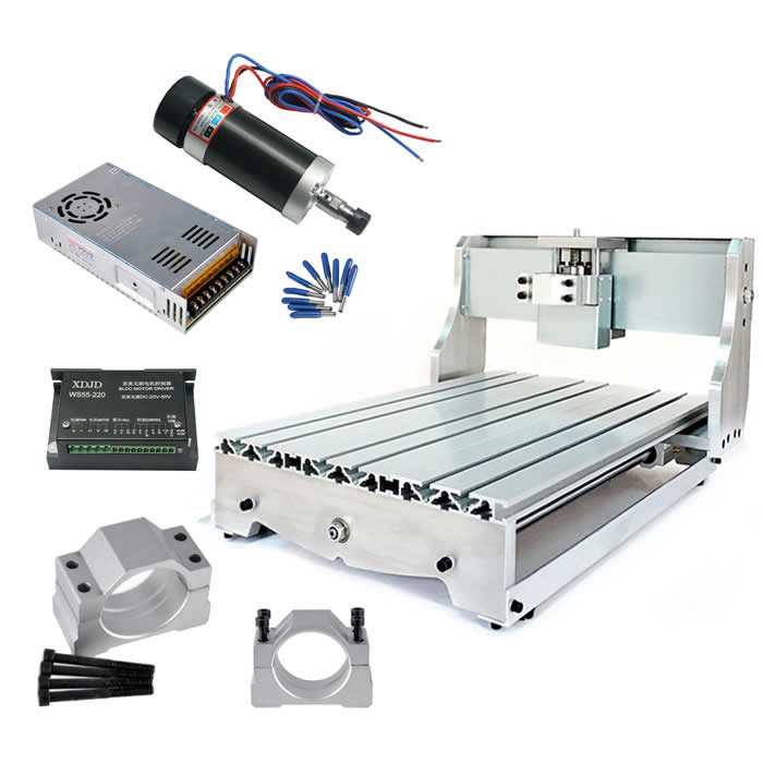 Mini CNC Frame 3040 Ball screw ER11 Brushless 500W DC Spindle Stepper Motor Driver Power Supply 3.175mm cnc tools