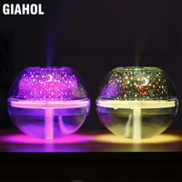 500ml USB Crystal Night Light Humidifier with LED Lights Super Mute Aroma Atomizer Diffuser Ultrasonic Mist Maker for Home Gold|Car Air Purifiers|Automobiles & Motorcycles -