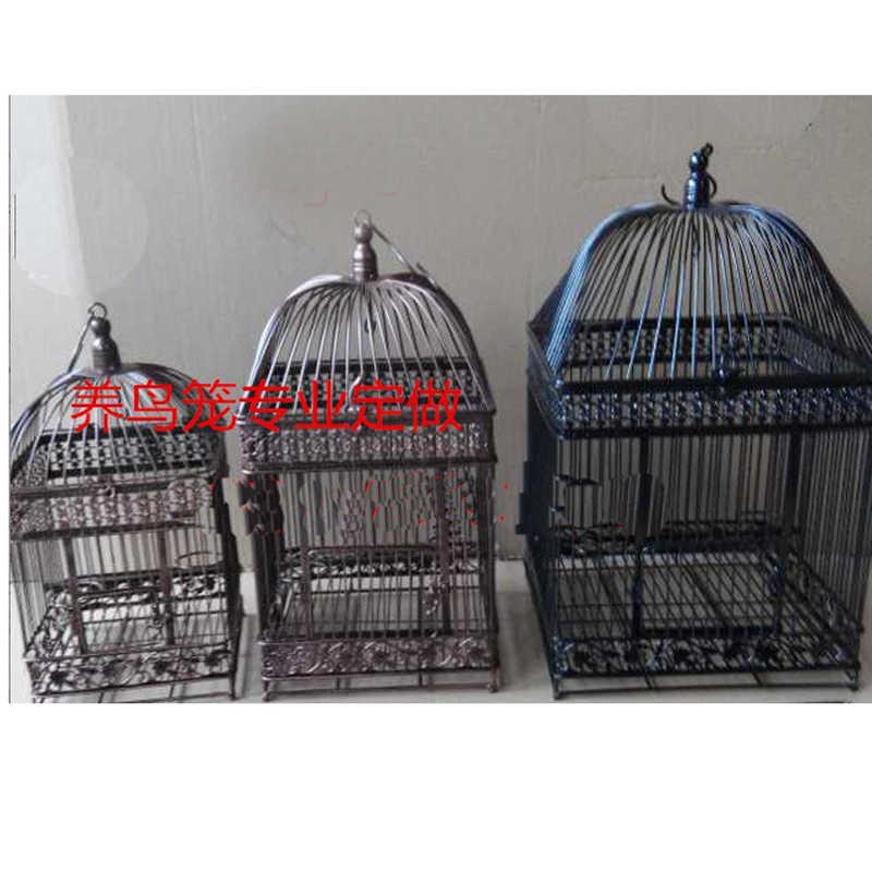 Fashion Wedding Birdcage  Iron Home Decoration Props Bird Cage Custom Decorative Cage Black White Copper colors