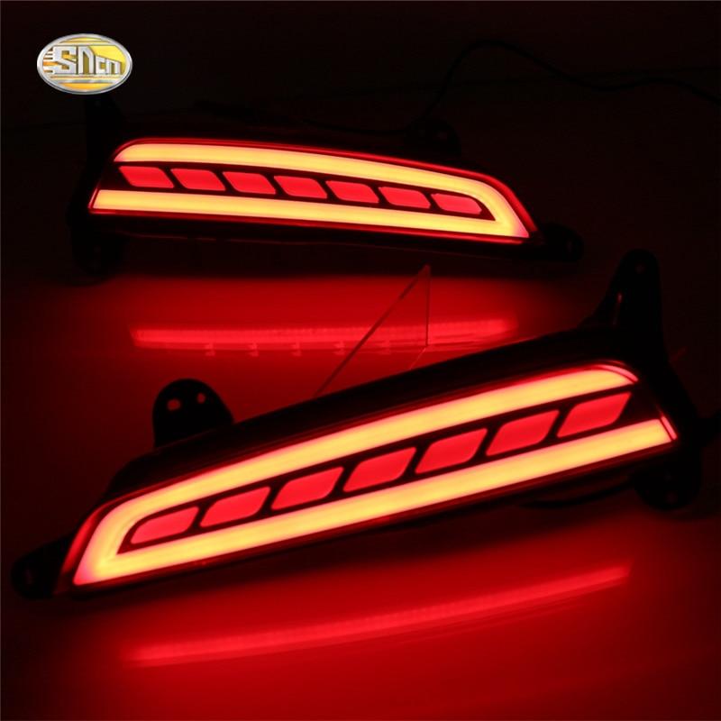 SNCN Led rear driving lights for Hyundai Creta IX25 2015 2016 Led Brake Lights rear bumper lamp Turning Signal light упоры капота автоупор для hyundai creta 2016 2 шт