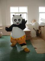 kung fu panda mascot costume fast delivery High quality customizable panda animal mascot costume for adult