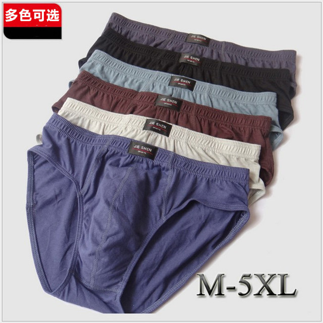 ¡ Promoción! 5 unids suave mens underwear boxers de algodón u bolsa de los hombres respirables más el tamaño m/l/xl/xxl/xxxl/4xl/5xl