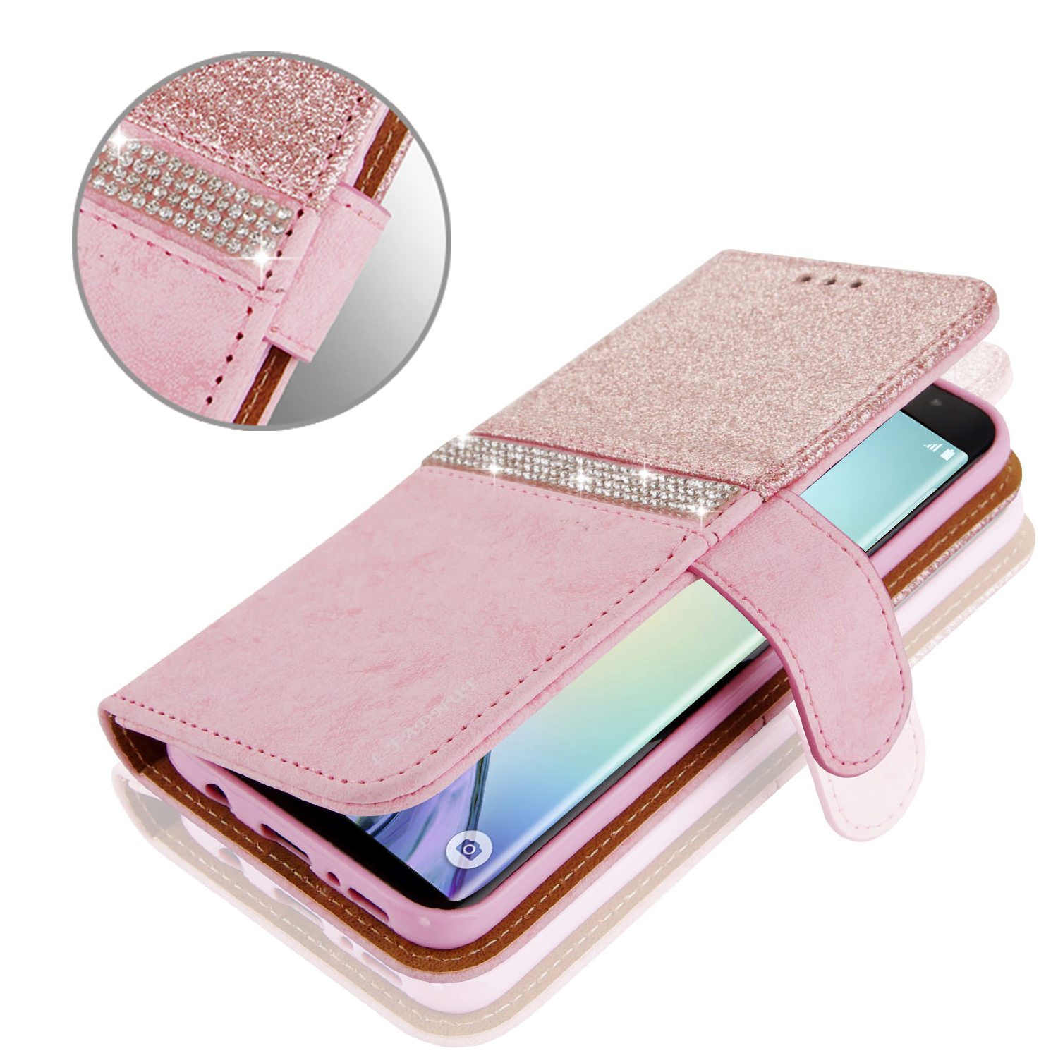 HTB1zRPNX.D1gK0jSZFGq6zd3FXaL - Bling Glitter Wallet Phone Case For iPhone X Xr Xs 11 Pro Max Leather Purse For Apple 6S 6 8 7 Plus 5 5S SE 2020 360 Girls Cover