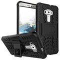 Armadura à prova de Choque híbrido Resistente Matte Hard Case Capa Para Asus Zenfone 3 ZE520KL 5.0/ZE552KL 5.5 Casos de Telefone de Suporte titular