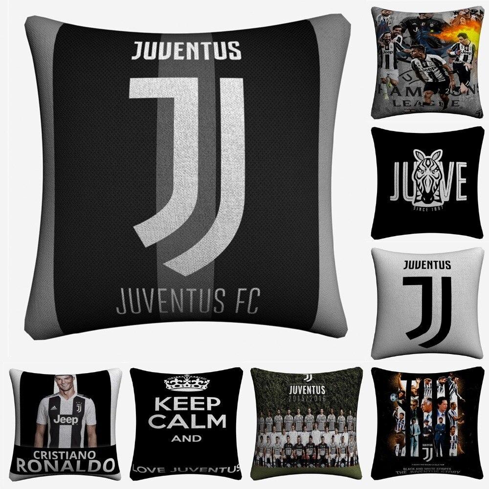 Juventus FC Footballeurs De Mode Art Décoratif Lin Housse de Coussin Pour Canapé Chaise 45x45 cm Coussin Cas Accueil décor Almofada