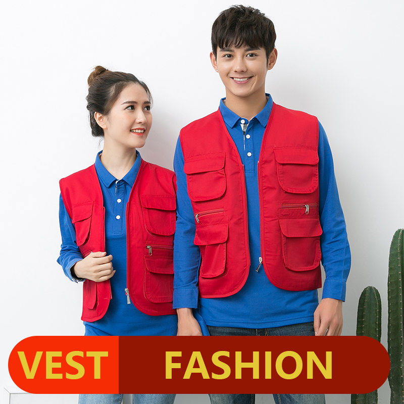 New Fishing Vest Men Multi pocket Photographer Vest Reporter Director Vest High Quality Large Size XL 3XL