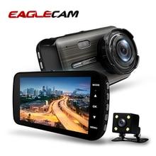 جهاز تسجيل فيديو رقمي للسيارات 2 كاميرات 4.0 بوصة HD الرقمية مسجل فيديو داش كاميرا السيارات Registrator عدسة مزدوجة مع الرؤية الخلفية كاميرا DVRS كاميرا