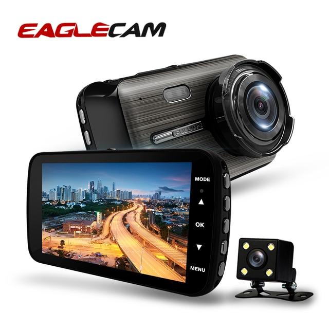 Автомобильный видеорегистратор 2 s 4,0 дюйма, HD цифровой видеорегистратор, Автомобильный регистратор с двойным объективом и камерой заднего вида, видеокамера