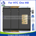 Gray Silver Gold LCD Replacement Assembly For HTC One M8 LCD Display With Touch Screen Digitizer With Bezel Frame +Tools