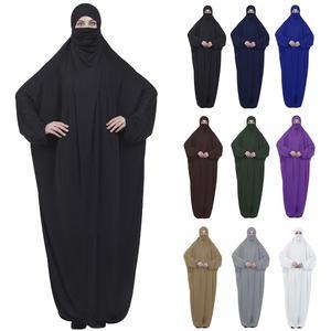 Image 1 - Islamic Khimar Abaya Prayer Dress Muslim Women Overhead Jilbab Full Cover Kaftan Arab Burqa Hijab Veil Niqab Hooded Modest Robes