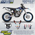 CustomTeam Graphics & Backgrounds Decals 3M GYTR Stickers Kit For Husqvarna FE TE FC TC 250 350 450 500 530