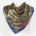 2015 women's quality satin silk scarf ladys basic silk large scarf  90*90cm summer sunscreen pashmina cape 12 colors