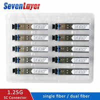 1.25G SC BiDi 5pair SFP Module 1310nm/1550nm WDM switch Compatible SFP Transceiver module with Switch with DDM Function