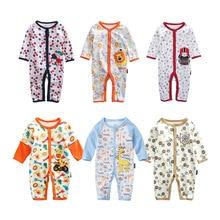 Купить с кэшбэком 2019 new Baby Girls & Boys Pajamas, 100% cotton brand jumpsuits meninas clothes babies , newborn 6-18M rompers baby clothes