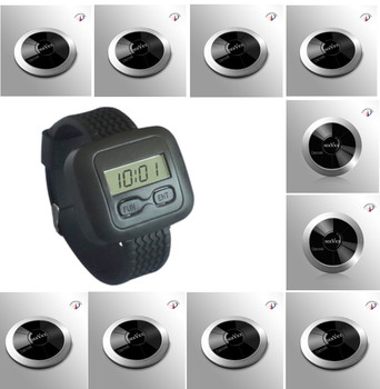 Free shipping! Service call, waiter pager, caller watch, two key button, wireless calling system, restaurant wireless table bell