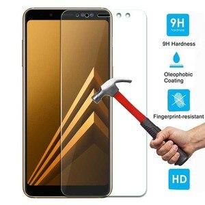 Image 1 - Vidrio Templado 9H para Samsung Galaxy A8 2018, vidrio templado para Samsung Galaxy A8 2018 A530 A530f SM a530F, Protector de pantalla Flim