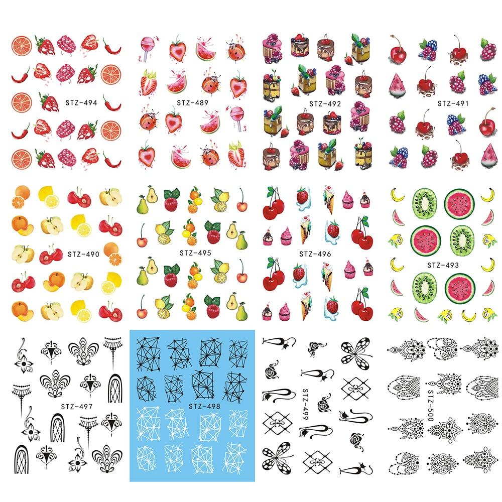 Aliexpress.com : Buy 12 Designs Watermark Nail Art