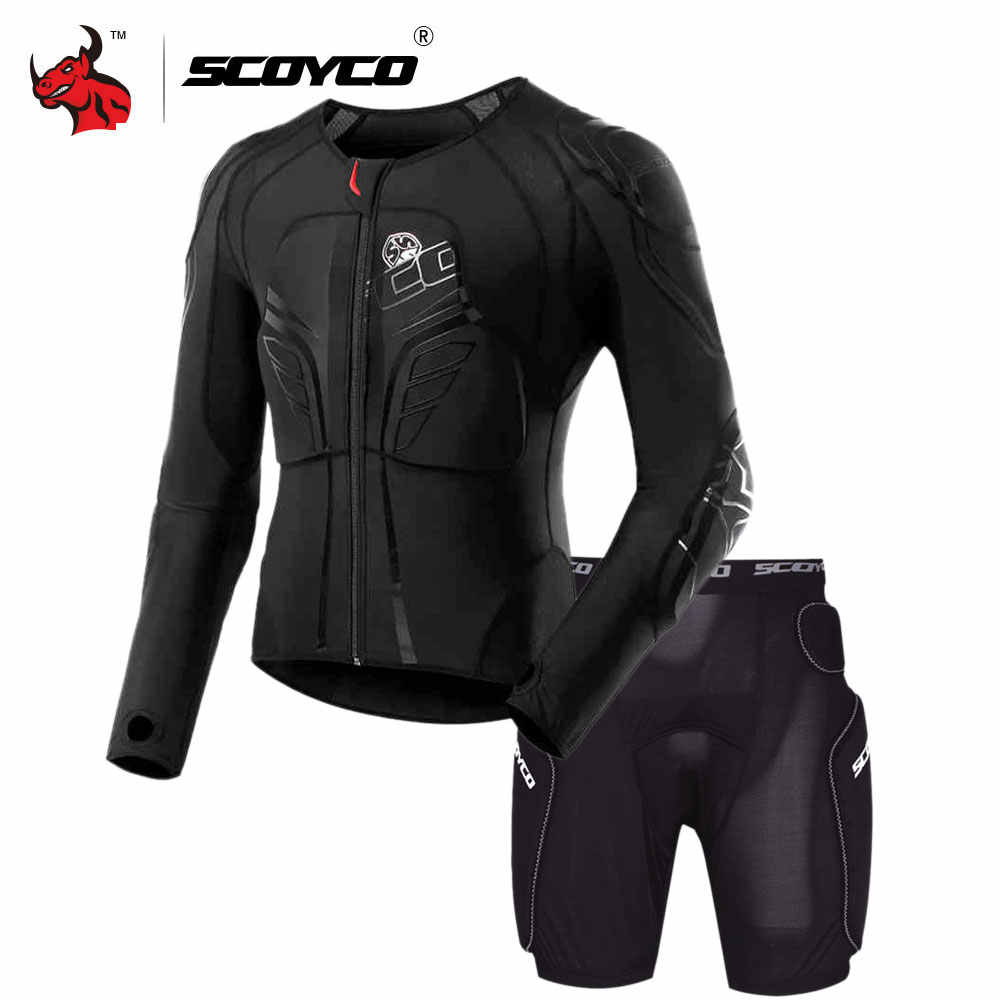 SCOYCO Motorcycle Jacket Protective Gear Motocross Protection Moto Jacket Motorcycle Armor Racing Body Armor Black Moto Armor