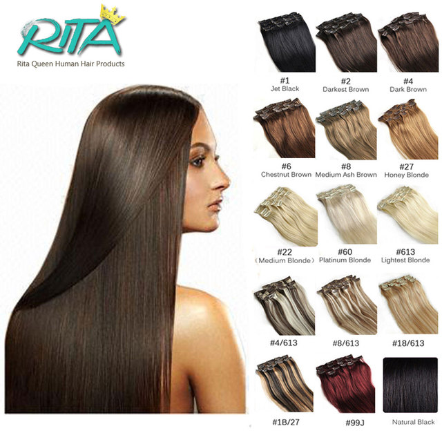 18 Color 100% Human Clip In Hair Extensions 70g 7pcs/set 140g 10pcs/set  Straight  Malaysian Clip In Hair Extensions  Hot Sale