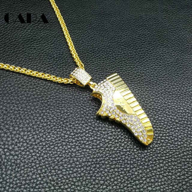 CARA NEW Rock Bling Hip Hop Charm Chains Jewelry Gifts pendants Full  Rhinestone Running shoes Necklace for men   women CAGF0232 777974298c3c