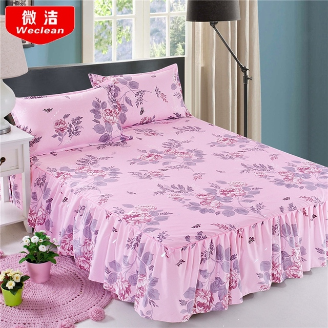 Bedcover Cubrecama, Bedspread Bedclothes,fashion Bed Skirts, Flowers, Colourful Bedspreads, Single