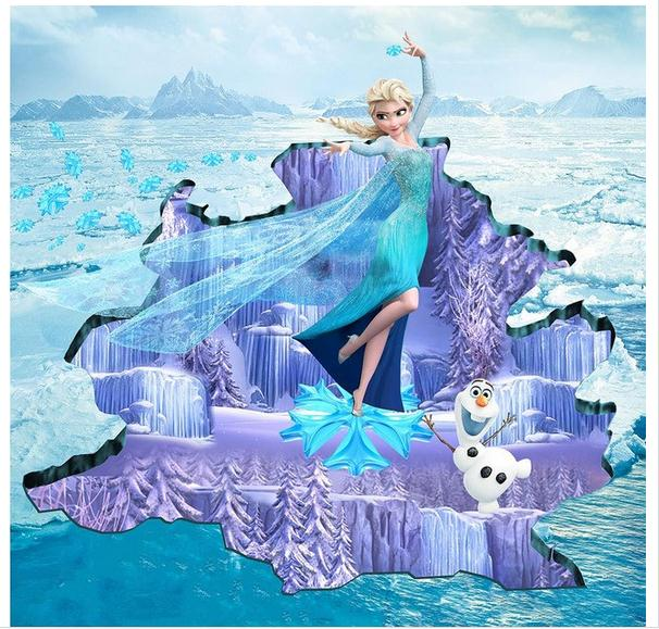 ФОТО Customized 3d wallpaper 3d floor painting wallpaper The 3 d on ice and snow country beauty Floor painting