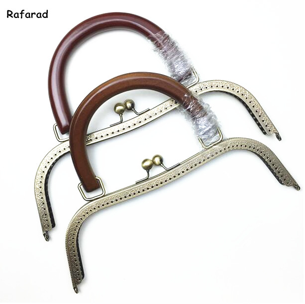 10 Pcs Per Lot 27 Cm Metal Purse Frame With Wooden Bag Handle Coin Sewing Purse Frame China DIY Accessories Supplier Online Shop