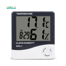 купить Digital LCD Thermometer Hygrometer Electronic Temperature Humidity Meter Weather Station Indoor Outdoor Tester with Clock по цене 428.99 рублей