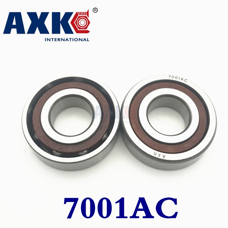 цена на 2017 Axk 10pcs 12mm Spindle Angular Contact Ball Bearings 7001c/p5 Super Precision Bearing Abec-5 7001 7001c 7001ac 12x28x8