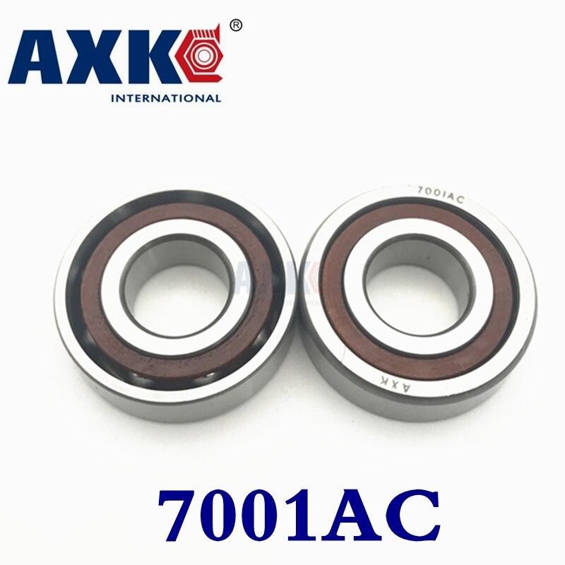 2019 Axk 10 pièces 12mm Roulements à Billes À Contact Oblique 7001c/p5 Super Précision Roulement Abec-5 7001 7001c 7001ac 12x28x8