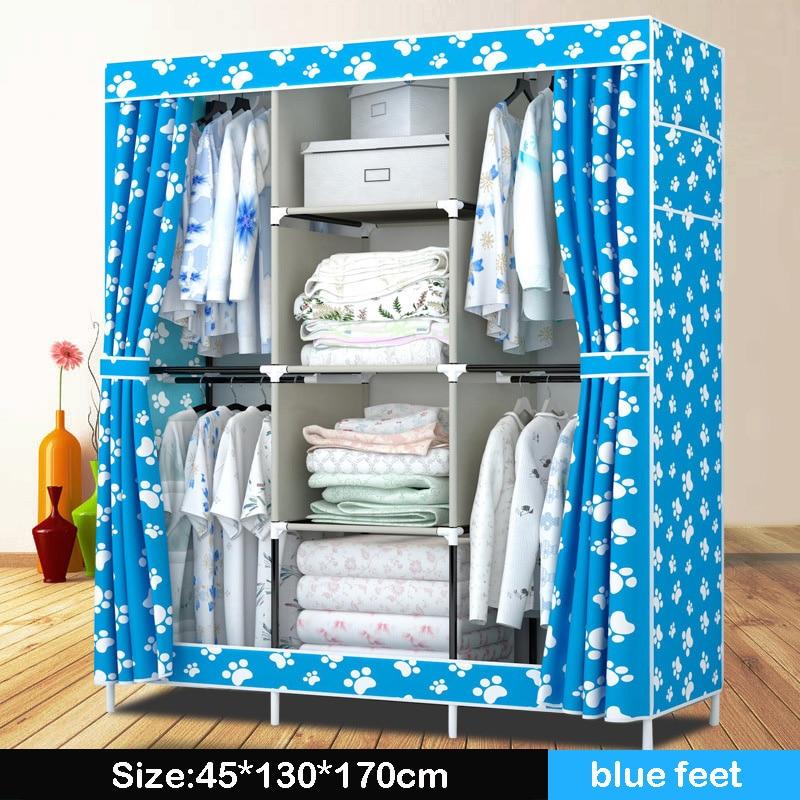 Нов платнен гардероб прост 4 висящи - Мебели - Снимка 2