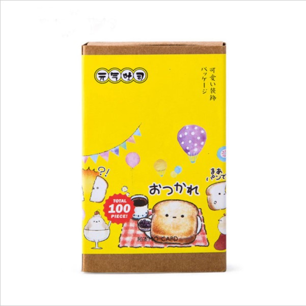 Executive College Stationery Note Cards: 10 Sets Toast Vitality (10pcs Bookmarks+10pcs Message