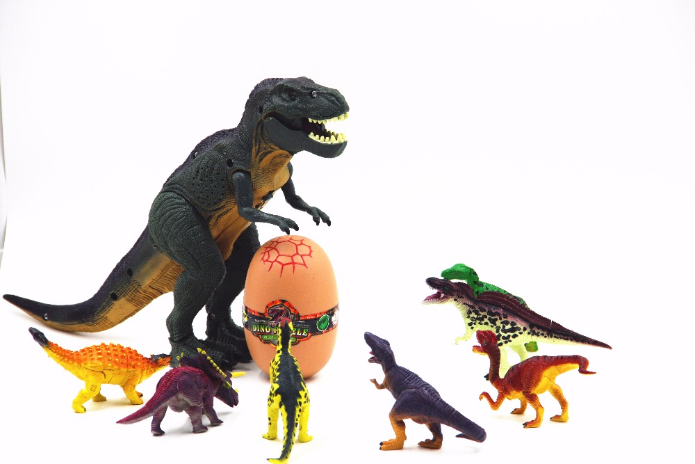 Smare Children Action figure Toys Dino Puzzle in jurassic egg building blocks For Children Earlier Education DIY toys ...