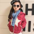 Girl Down Coat Winter New 2016 Brand Fashion Hooded Fur Collar Zipper Solid Tops White Duck Down Big Bow Outerwear For 3-10T Kid