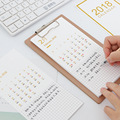 Table Calendar & wood clipboard 2018 Year Creative multifunction Desktop Paper Calendar weekly agenda planner organizer Gift