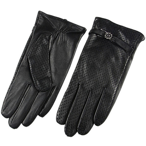 Image 4 - Brand Genuine Leather Gloves Spring Autumn Thin Fashion Trend Women Sheepskin Gloves Finger Driving Glove L093NN