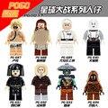 Star Wars DIY Figures Single Sale Luke Qui-Gon Jinn Yularen Ventress Embo Models Building Blocks  Starwars Toys for Kids