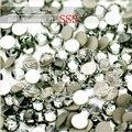 1440 unidades/pacote SS3 (1.3-1.4mm) cristal Black Diamond Pedrinhas Decorações Nail Art Plana Volta Non Hotfix Cola Em Nail Art Pedras