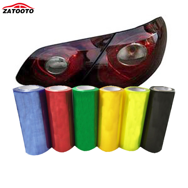 цена 30*200cm Car Lights Fog Light Headlight Taillight Tint Vinyl Film Auto Sticker Tint Change Color For Car Light Black Golden Blue